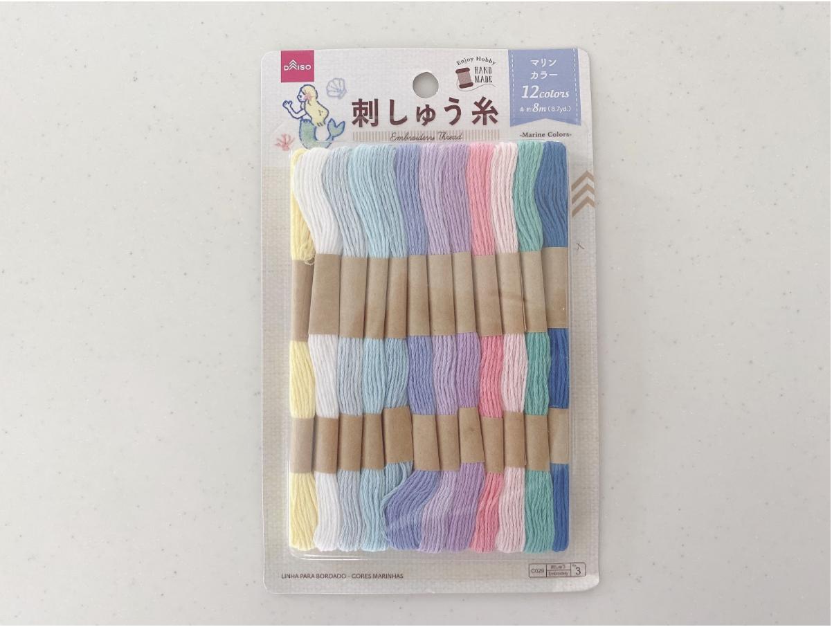 ハンドメイド刺繍ハンカチを作るために揃える材料の種類