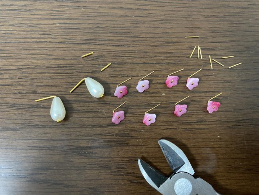ハンドメイドパールピアスの作り方2