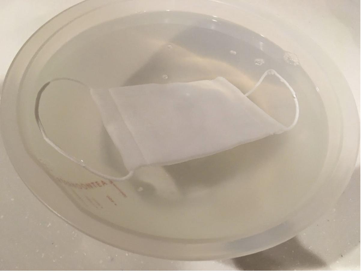 ハンドメイド布マスクを手洗いする方法
