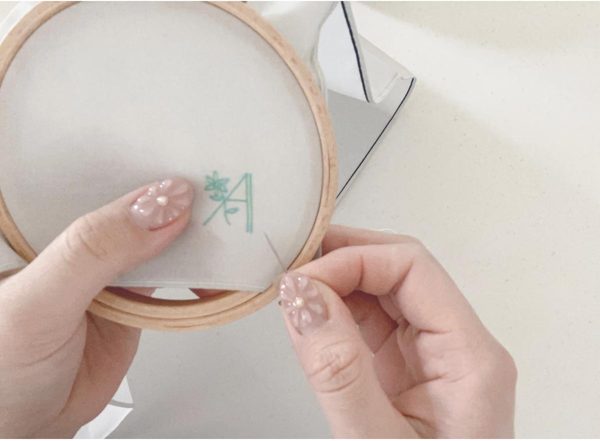 ハンドメイド刺繍ハンカチの作り方