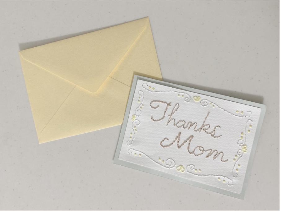 ハンドメイド紙刺繍メッセージカードを作るコツ