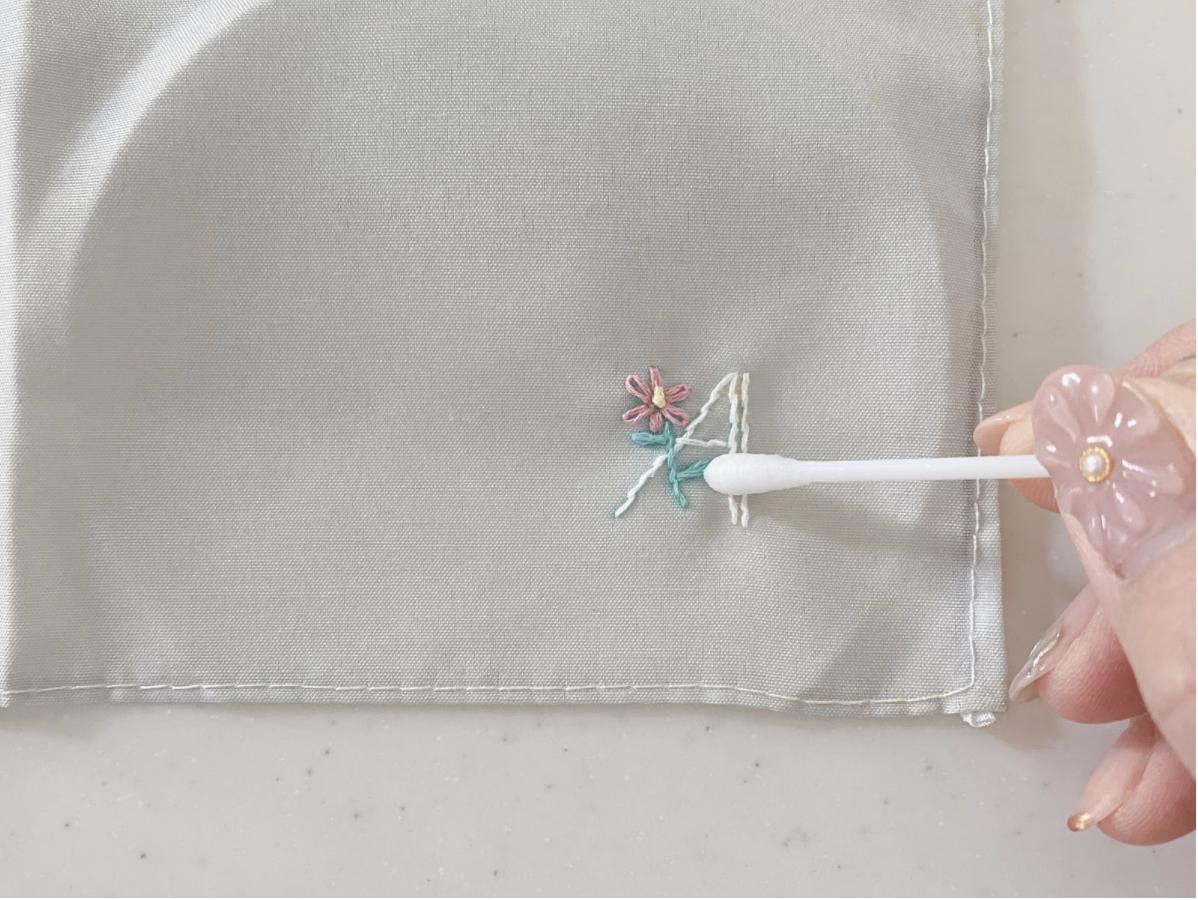 ハンドメイド刺繍ハンカチ作りの仕上げの仕方