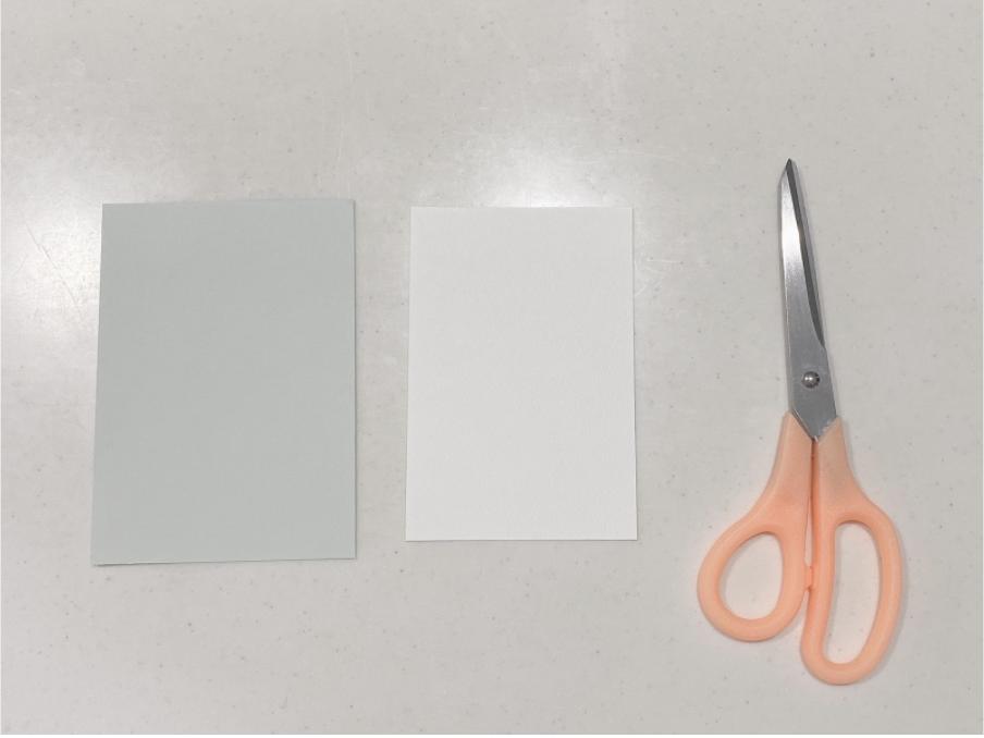 ハンドメイド紙刺繍メッセージカードの作り方