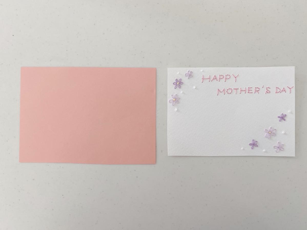 ハンドメイド紙刺繍メッセージカードの仕上げ方