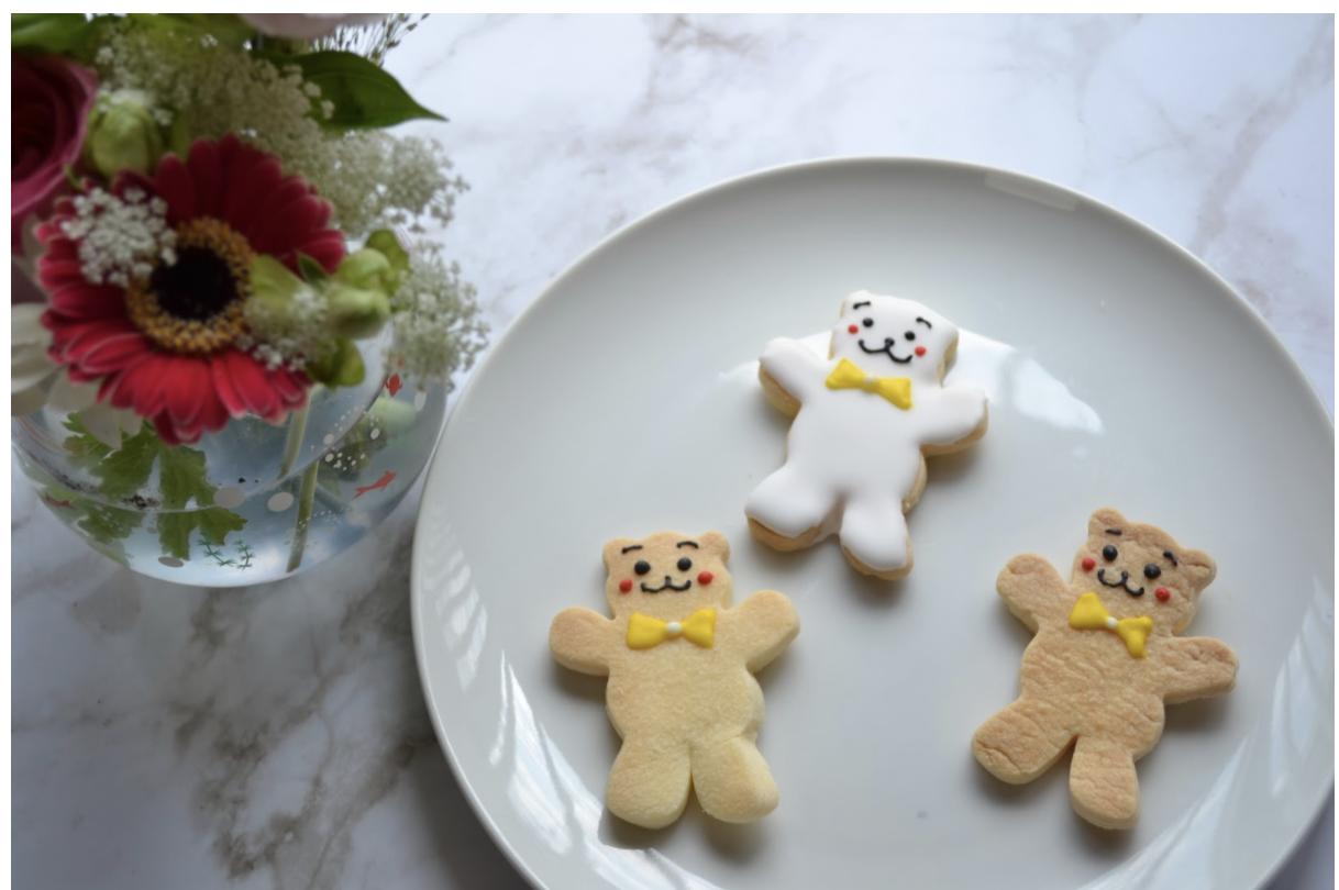 おうち時間に親子で作る!くまのアイシングクッキー簡単レシピ・作り方