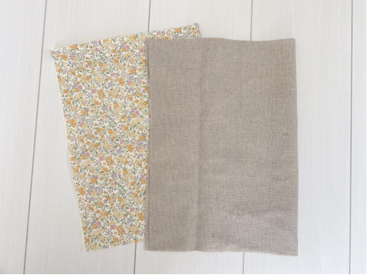 おうち時間でオリジナル刺繍巾着を作る時に使う材料