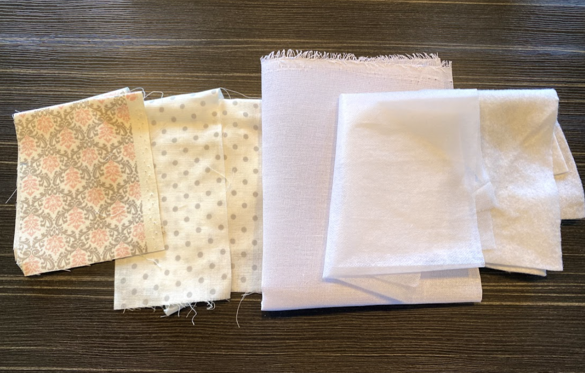 接着芯と布を使ってポケット付きメガネケースを作る時に必要な材料や用意するもの